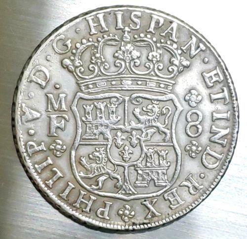 1741 Mexico 8 Reales Silver Coin Lot# E 165