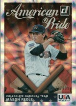 #AP7 Mason Feole Collegiate Team 22/999 2019 Panini Donruss Baseball Card AAH - $2.02