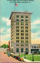 1940s Postcard LA Alexandria Louisiana Guaranty Bank Trust Company Build... - $7.95