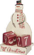 Primitives by Kathy Christmas Countdown Wood Blocks Set, Snowman, 3 Piece - $27.26
