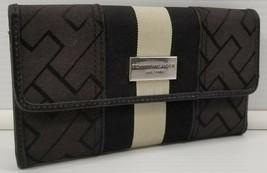 Tommy Hilfiger Women's Black Trifold Wallet Organizer Clutch Checkbook - $19.79