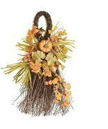 Autumn Harvest Decorative Artificial Pumpkins Berries and Leaves Teardro... - £24.26 GBP