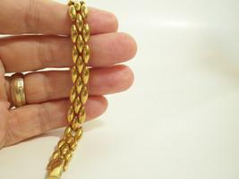 Gold Plated PANTHER Link Chain Bracelet Elegant Classic Vintage Estate - $14.84
