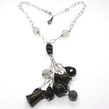 Halskette Silber 925, Onyx, Mokka, Kaffeekanne, Teekanne, Anhänger, Ruti... - $225.39