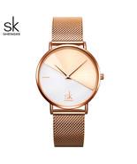 Women's Watches Fashion Leather Wrist Watch Vintage Ladies Watch Irregular Clock - $23.00