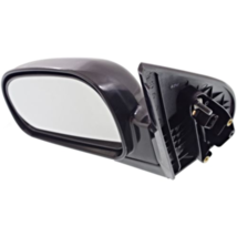 Fits 01-06 Santa Fe Left Driver Mirror Power Non-Painted Black No Heat - $55.39
