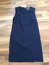 Donna Ricco Navy Blue Womens sz Small Sheath Career Dress High Neck No Slit - $32.54