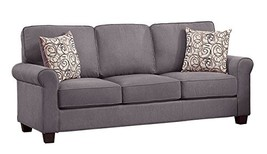 Homelegance 9938GY-3 Selkirk Fabric Sofa with Accent Pillows, Gray - $854.23