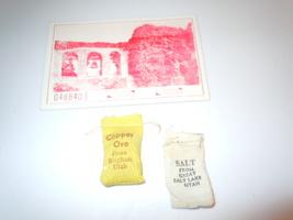 Vintage Tiny Copper Ore Bag & Tiny Salt Bag Utah & Mission San Juan Tick... - $5.99