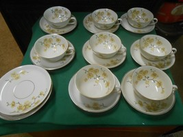 Beautiful Johann Haviland Bavaria Germany .Set 8 Cups & Saucers & 3 Free Saucers - $42.16
