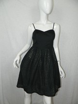 Anthropologie MOULINETTE SOEURS Dress Black Eyelet Lace Removable Straps... - $18.49