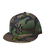 New Era New York Yankees 59Fifty Woodland Camo Fitted Men's Hat Black 70... - $38.00