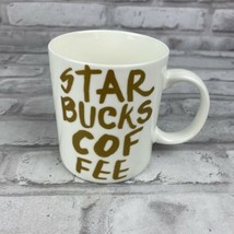 Starbucks Logo White Gold Graffiti Collection 2015 Coffee Mug 12 oz - $15.36