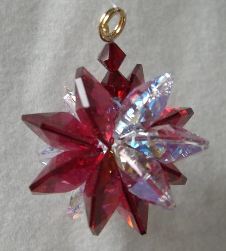 J'Leen AB Bordeaux Small Suncluster Austrian Crystal