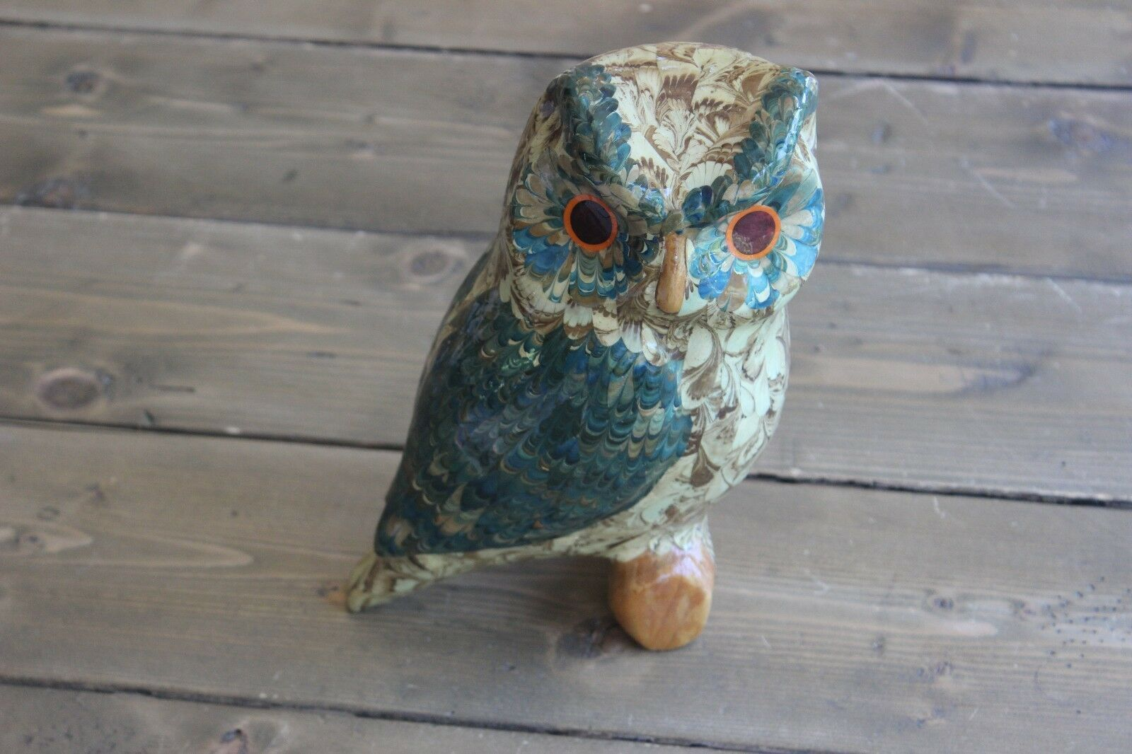 Home Decor Owl Figure Signed DS image 1