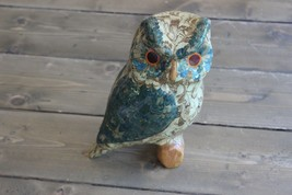 Home Decor Owl Figure Signed DS - $11.72