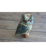 Home Decor Owl Figure Signed DS - $11.72