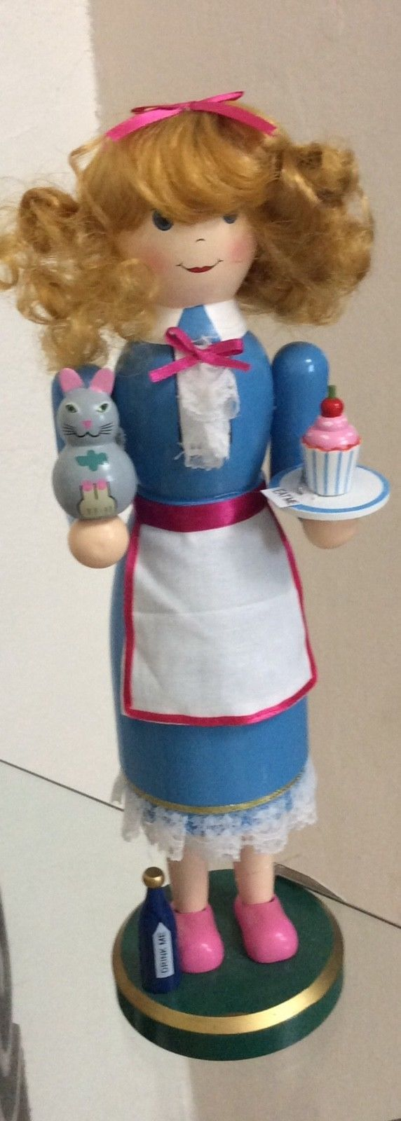 Primary image for Alice in Wonderland, Wooden Nutcracker, Holiday Lane. Measures 14 in Tall x 4 W.