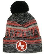 Arizona AZ Patch Fade Out Cuffed Knit Winter Pom Beanie Hat (Black/Red) - $11.95