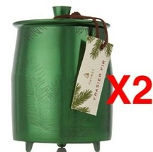 THYMES FRASIER FIR HERITAGE SMALL GREEN METAL TIN CANDLE 4.0 OZ (Pack of 2) - $39.60