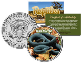 BLACK MAMBA * Collectible Reptiles * JFK Half Dollar U.S. Colorized Coin... - $8.86