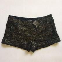 Express Shorts 6 NWT Black And Gold Tweed  - $13.10