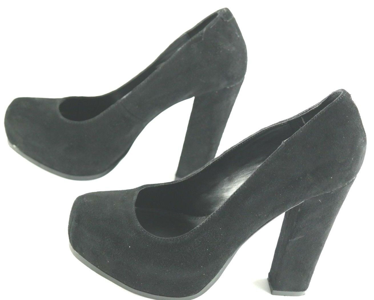 Steve Madden Sarrina Platform Pumps Womens Sz 7.5 Black Suede High Heel Shoes image 2