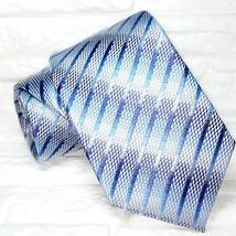 Blue Design necktie silk classic business / weddings ties by Morgana Italy - $26.00