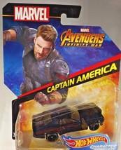 2018 Hot Wheels MARVEL Avengers Infinity War CAPTAIN AMERICA Black w/OH5 Spokes - $10.00