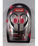 Maxell Fitness Earhooks with Microphone Headphones - Pink - New - $10.44
