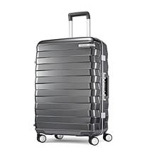 Samsonite Framelock Hardside Checked Luggage with Spinner Wheels, 25 Inch, Dark  - $263.46