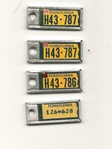 4 Disabled American Veterans Pennsylvania License Plates '66-'67-'68 - $0.99