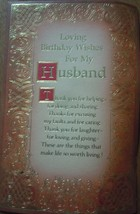 Mid Century American Greetings Birthday Wishes For My Husband  - $2.99