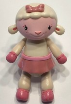"Doc McStuffins 5"" Lamb Lambie Pink White Poseable Figure Disney Just Play - $9.79"