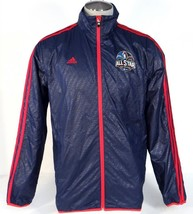Adidas NBA All Star New Orleans 2014 Blue Zip Front Wind Track Jacket Me... - $63.74