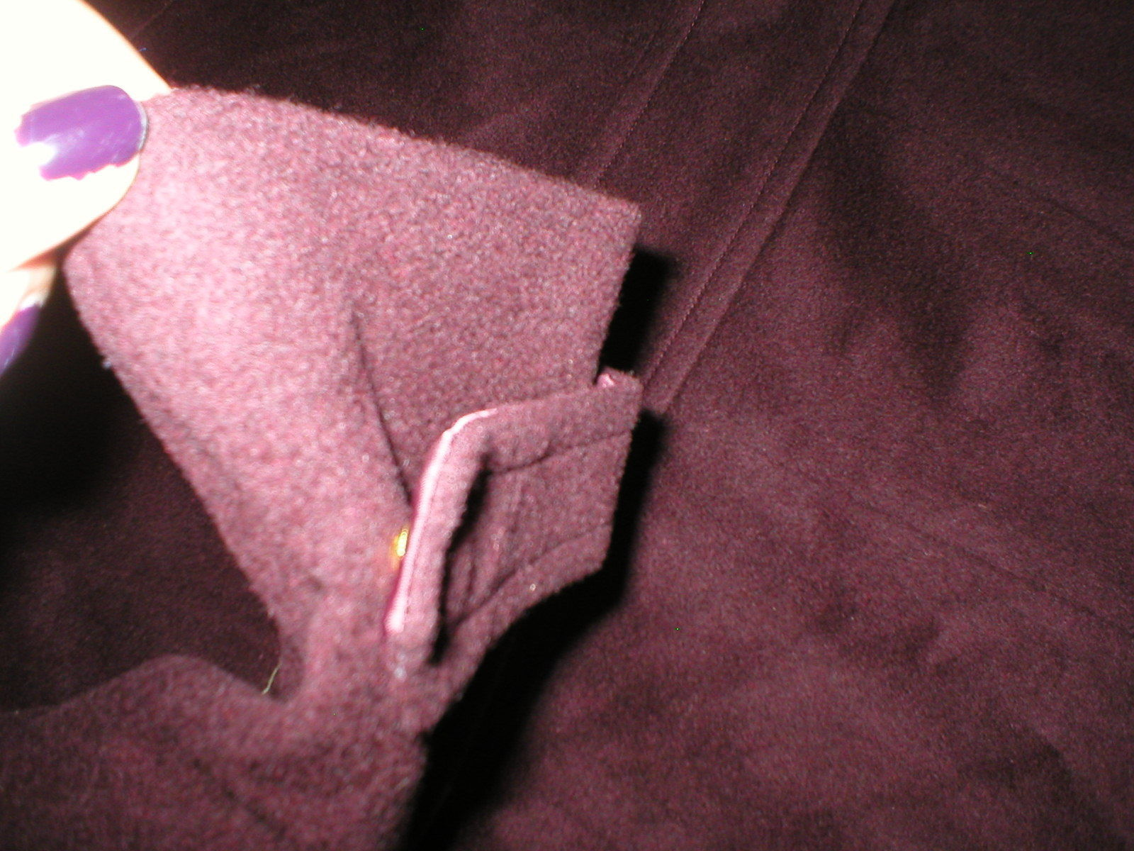 New NWT Womens Cole Haan Coat 8 Wool Bordeaux Dark Red Burgundy Stand Up Collar