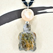 A.T. Storrs Handcrafted Harmony Serenity Medicine Stone Turtle Pendant Necklace image 2