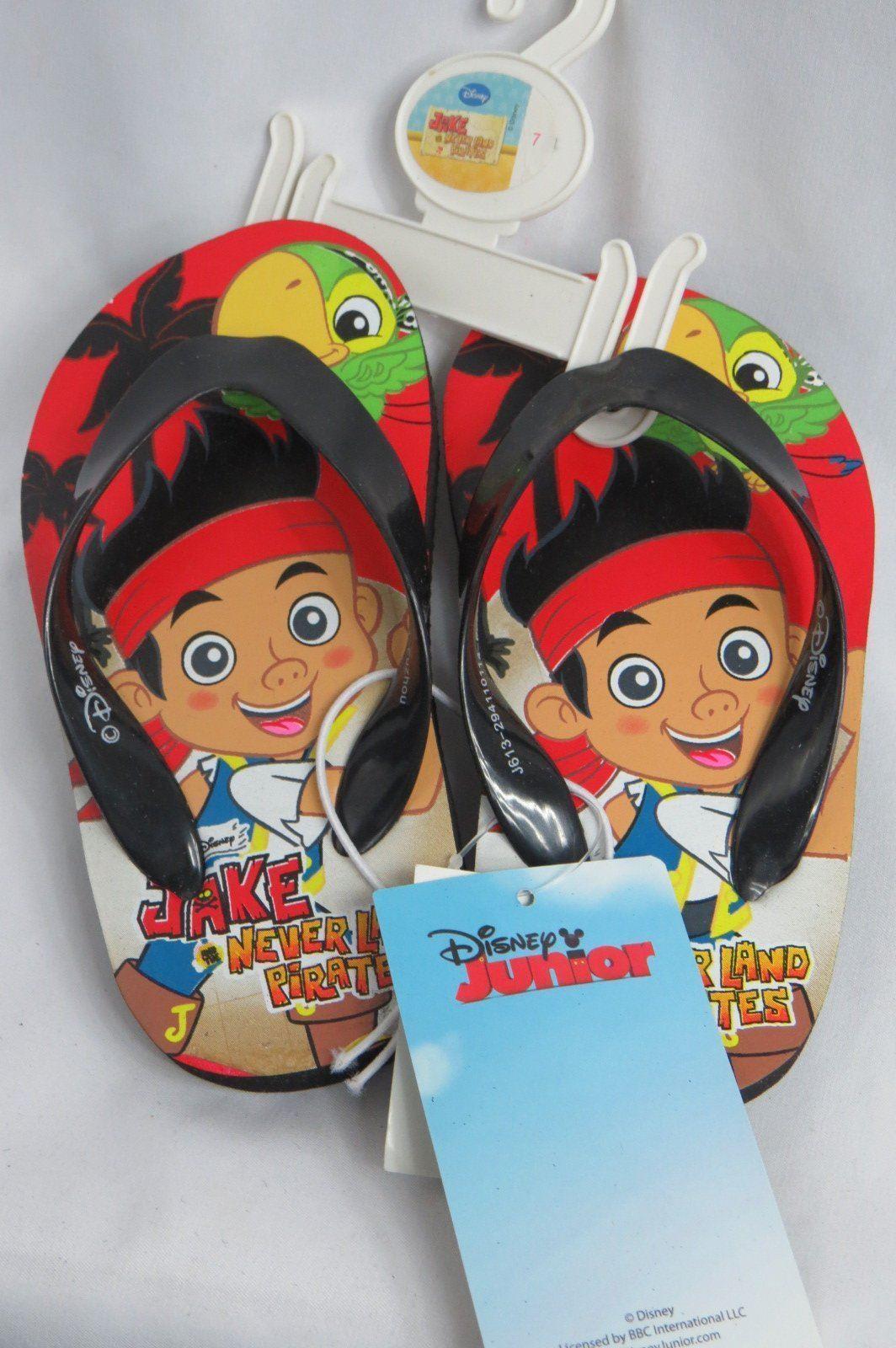 Flip Flops Disney Jake The Pirate Toddler Boys Sandals Flip Flops Size 7