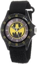 "Batman Boys' BAT5038 Black ""Time Teacher"" Batman Watch - $13.17"
