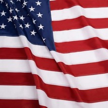 G128 American Flag 3x5 Ft Embroidered Stars Sewn Stripes Brass Grommets ... - $19.34