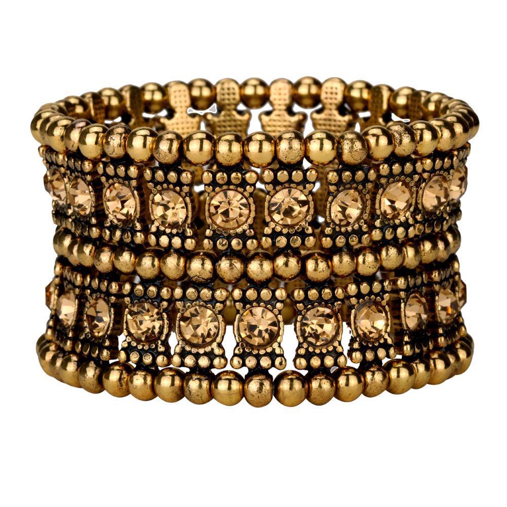 Multilayer stretch cuff bracelet - $15.00 - $20.00