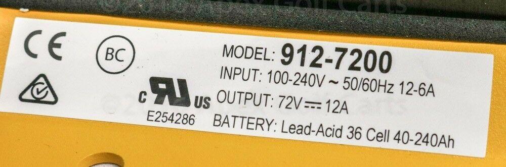 Delta Q Quiq Cargador 72 Voltio / 12 Amp Polaris Gem Coche 912-7200 Chrysler Nev