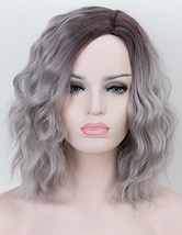 Persephone Ombre Grey Bob Wig for Women Full Machine Made Beauty Short W... - $18.73