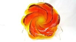 Vintage Fenton Amberina Glass Swirl Dish, Bowl or Ashtray EUC - $26.72