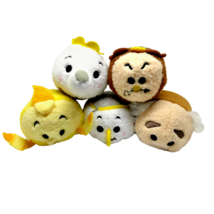Disney Beauty and the Beast Tsum Tsums Set Lumiere Cogsworth Potts Chip ... - $18.42