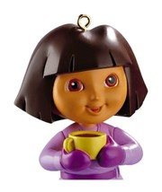 Carlton Cards Heirloom Dora the Explorer with Yellow Tea Cup Christmas O... - $13.56