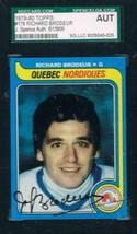 1979-80 Topps #176 Richard Brodeur Nordiques JSA Auto - $19.75