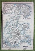 GERMANY Rugen Island Putbus, Granitz & Stubnitz - 1904 MAP ORIGINAL Baed... - $3.72