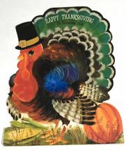 Vintage Hallmark Thanksgiving Turkey greeting card Decor - $22.60