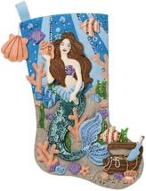 "Bucilla Felt Stocking Applique Kit 18"" Long-Sea Princess  - $34.20"